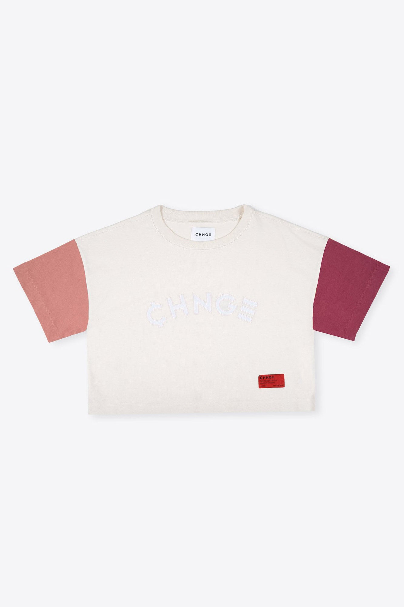 Chalk and Dusty Rose Ringer Crop