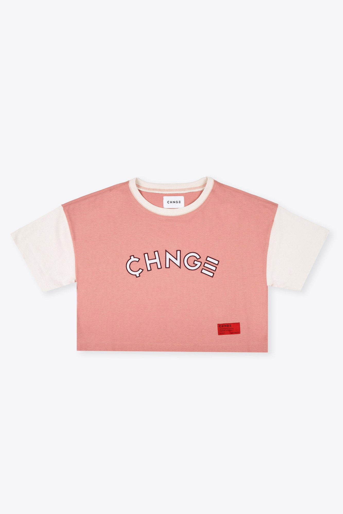 Dusty Rose Ringer Crop