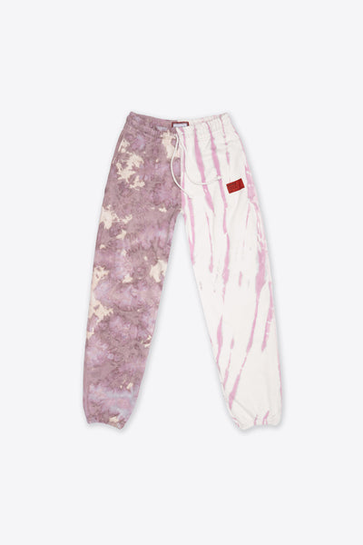 Chalk/Mauve Pieced Tie Dye University Sweatpant