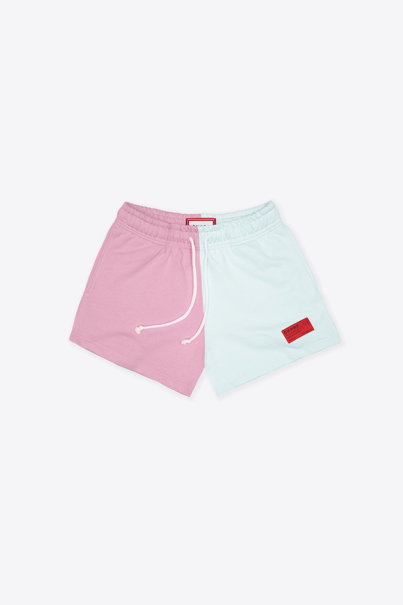 Mauve/Mint Pieced Sweatshorts
