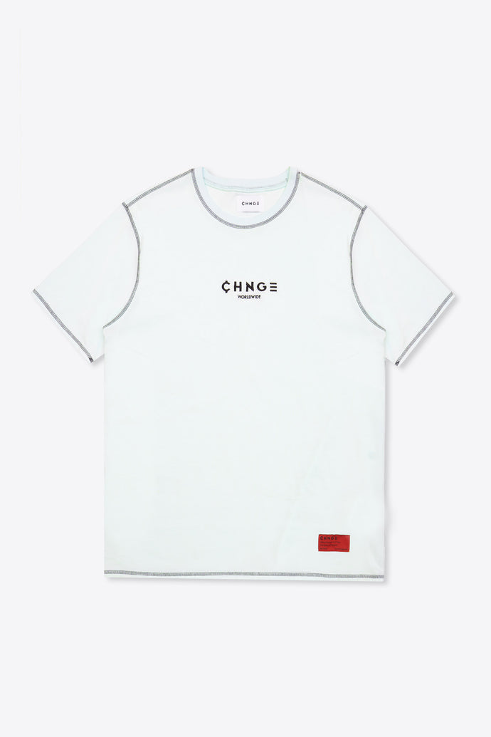 CHNGE Worldwide Contrast Stitch Tee (Mint)