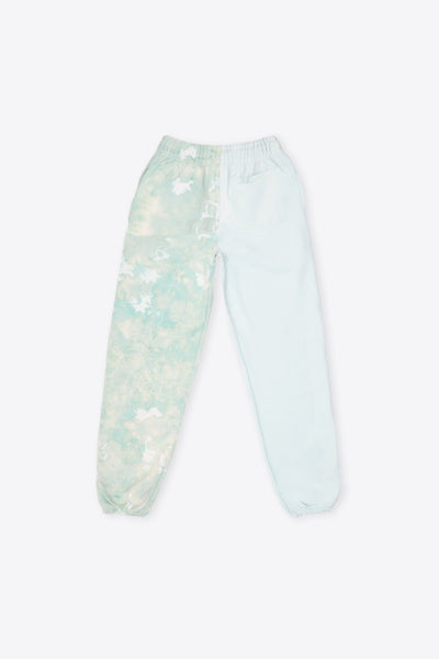 Mint/Mint Marbled Pieced TD Sweatpant