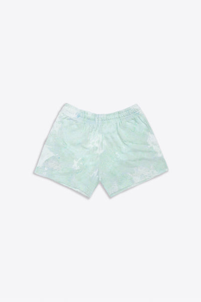 Mint Marbled Tie Dye  Sweatshorts