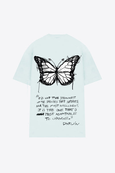 Butterfly T-Shirt Dress (Mint)