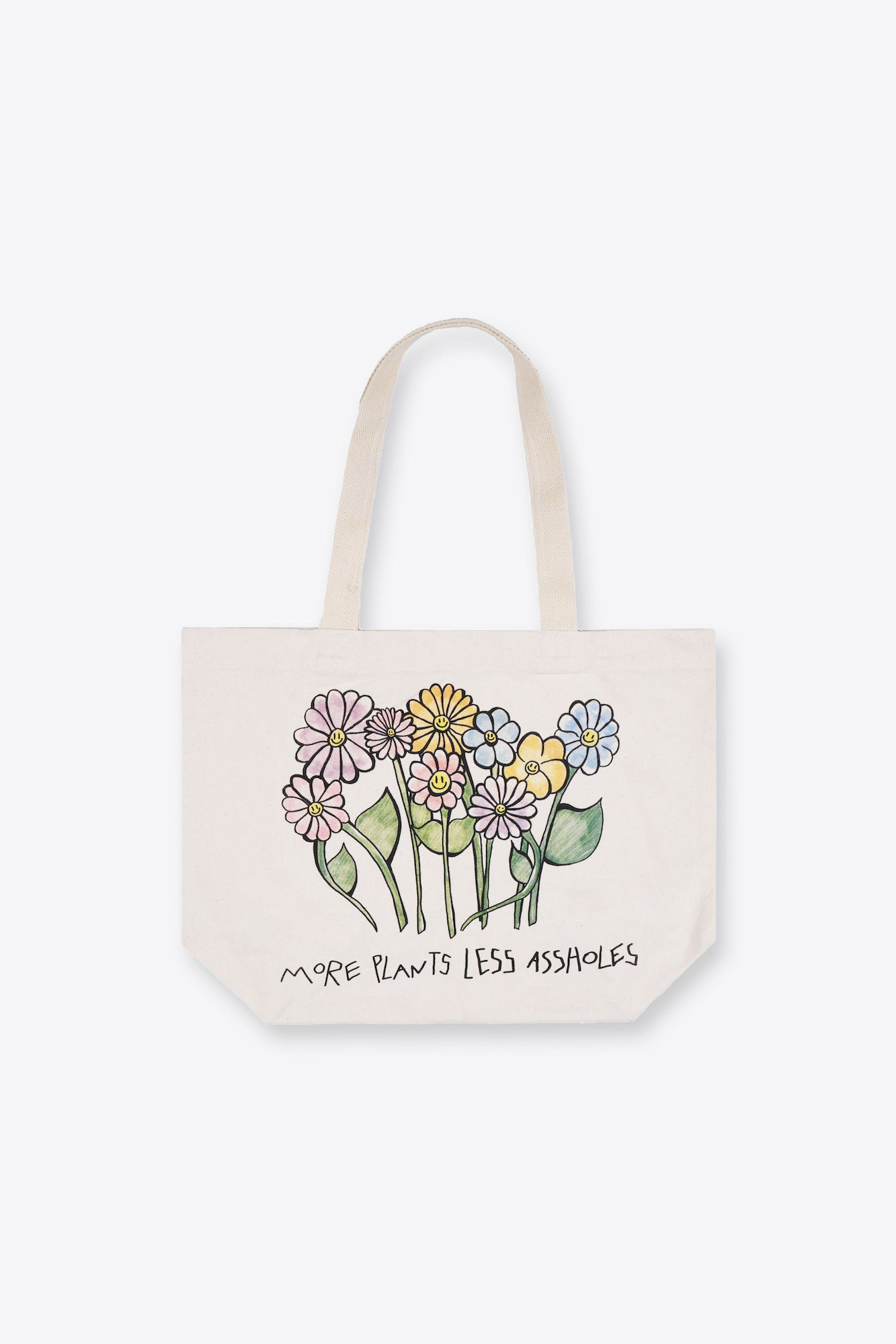 More Plants Less Assholes Tote Bag