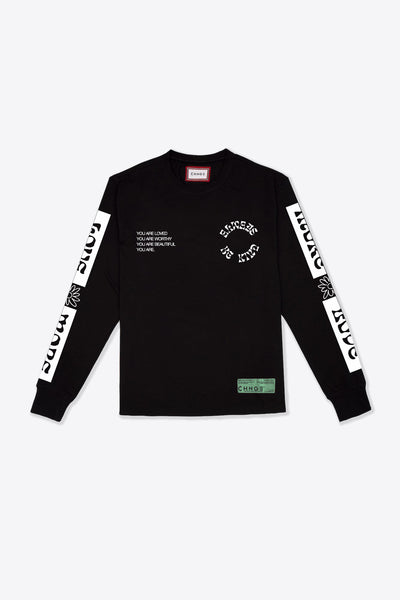 Love More Cuffed L/S T-Shirt (Black)
