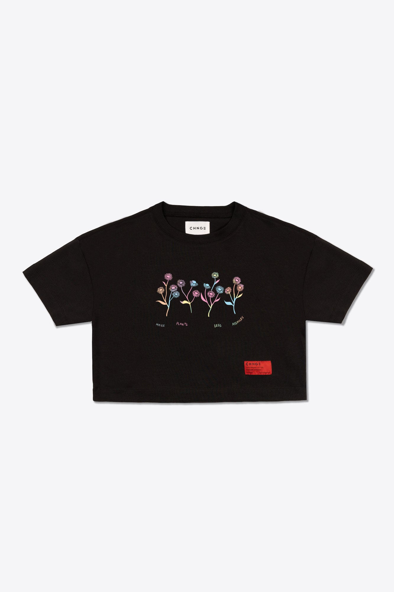 More Plants Crop Top (Black)