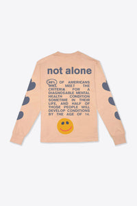 You Are Not Alone Cuffed L/S T-Shirt