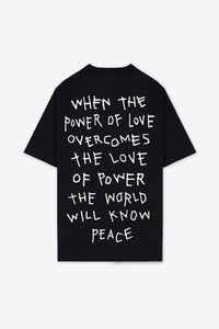 Power of Love T-Shirt Dress (Black)