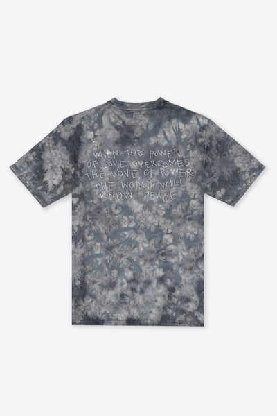 Tie Dye Power of Love S/S T-Shirt (Black Marble)