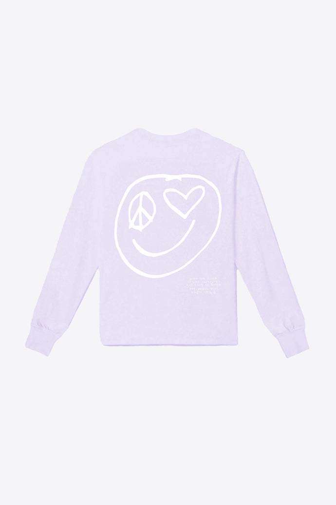 Power of Love Smiley Pocketed Tee (Violet)
