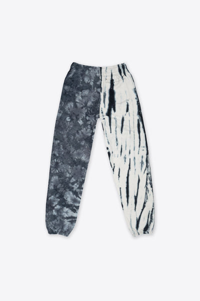 Black/Chalk Pieced Tie Dye University Sweatpant