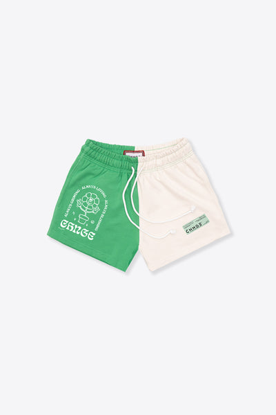 MHA Kelly Green/Chalk Pieced Sweatshort