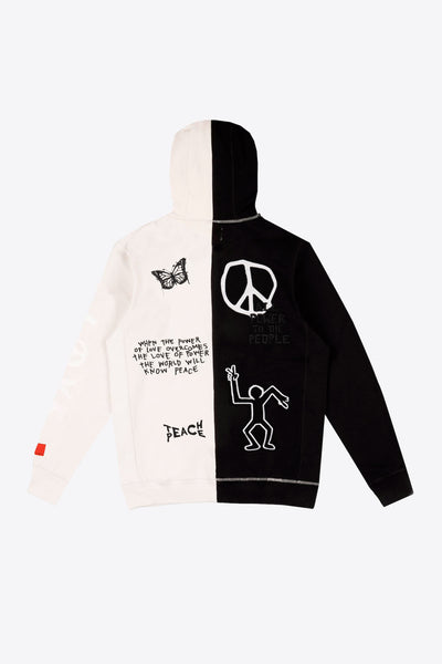 Pieced Love Peace Hoodie