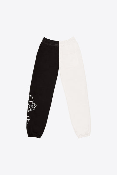 MHA Chalk/Black Pieced Sweatpant