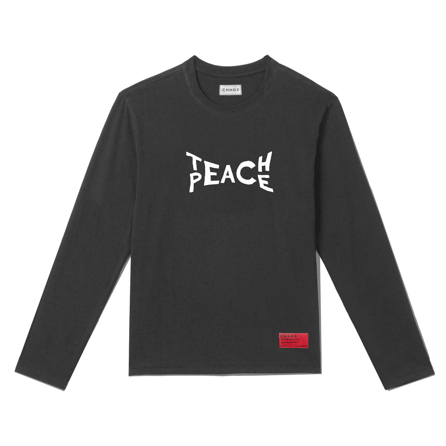 Teach Peace Long Sleeve (Faded Black)