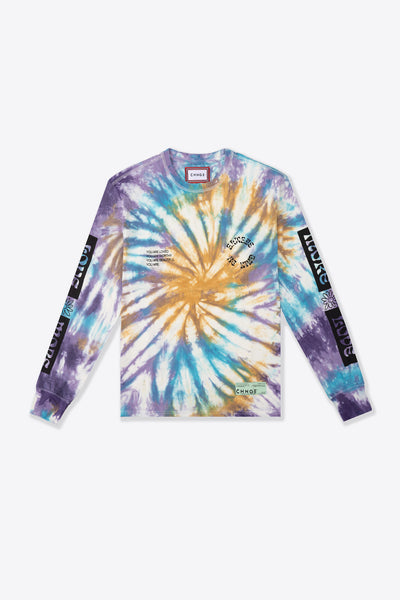 Love More Cuffed L/S T-Shirt (Spiral Tie Dye)