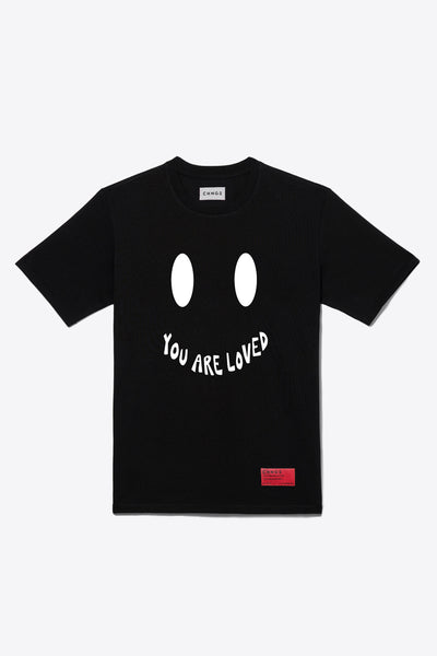Smile You Are Loved Tee (Black)