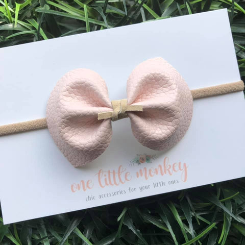 Powder Pink DARCY Bow
