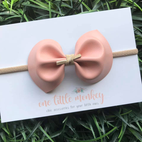 Blush DARCY Bow