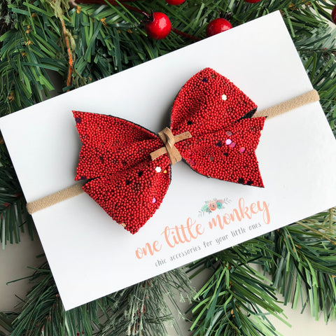 Christmas Cookie Sprinkles KENNEDY Bow