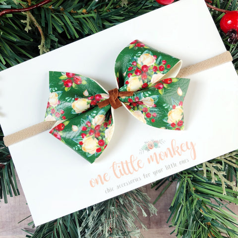 Holiday Floral KENNEDY Bow