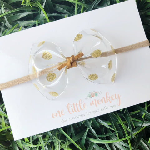 Gold Dot Jelly MILLIE Bow