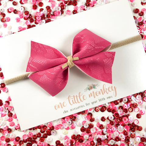 Magenta Lace KENNEDY Bow