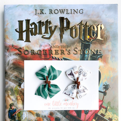 RAEGAN Bows - Set of 2 - Slytherin