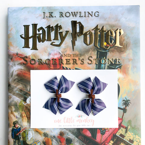 Ravenclaw RAEGAN Bows - Set of 2 Piggy Clips