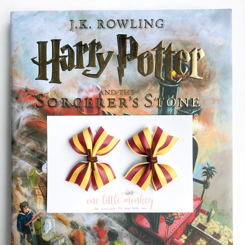 Gryffindor RAEGAN Bows - Set of 2 Piggy Clips