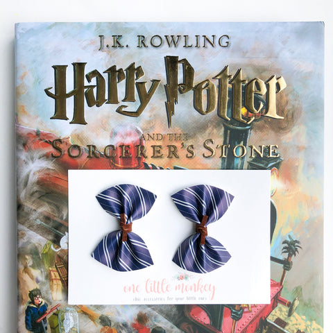 Ravenclaw HARPER Bows - Set of 2 Piggy Clips