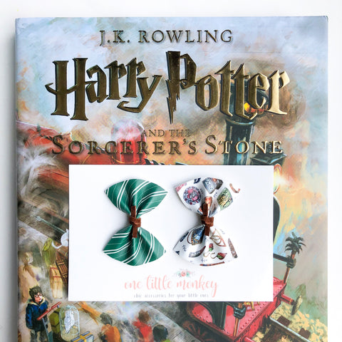 HARPER Bows - Set of 2 - Slytherin