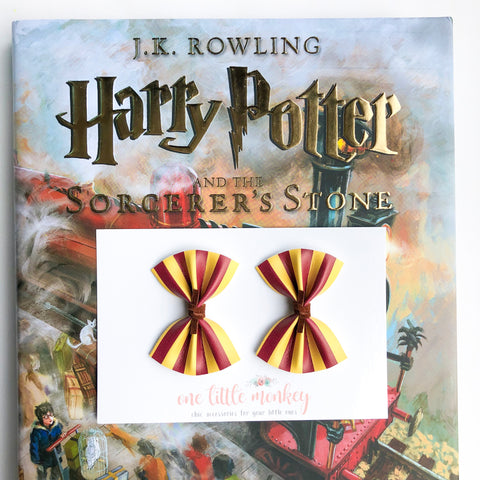 Gryffindor HARPER Bows - Set of 2 Piggy Clips