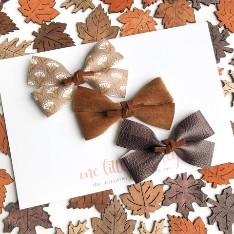 FALL19 GILLIE - Set of 3 - Brown Gingham