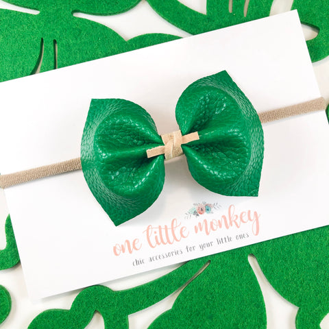 Kelly Green MILLIE Bow