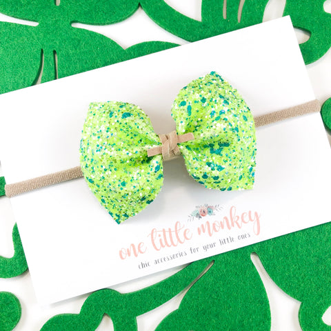Green Clovers MILLIE Bow