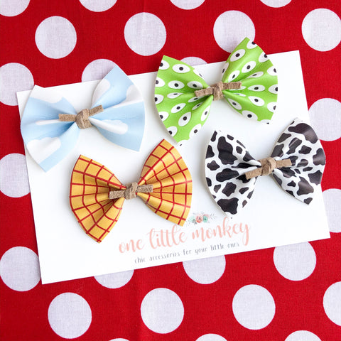 HARPER Bows - Set of 4 - Toy Story Inspired