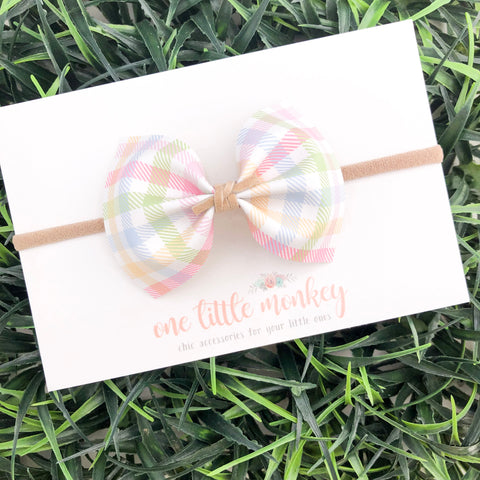 Easter Plaid MILLIE Bow