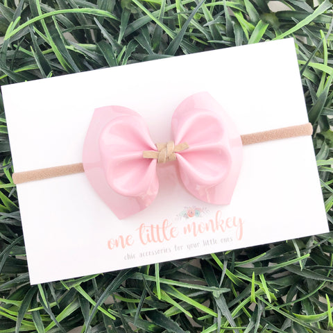 Pink Patent MILLIE Bow