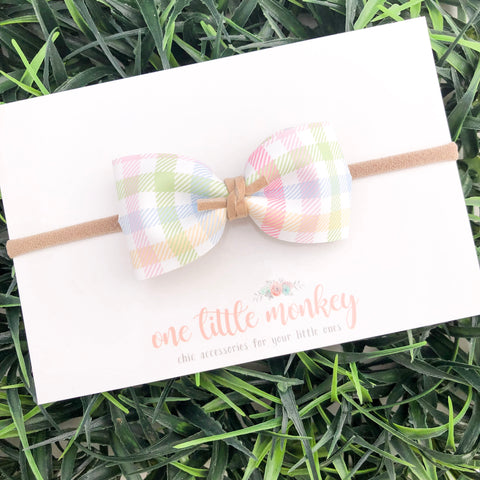 Easter Plaid HARLOWE Bow