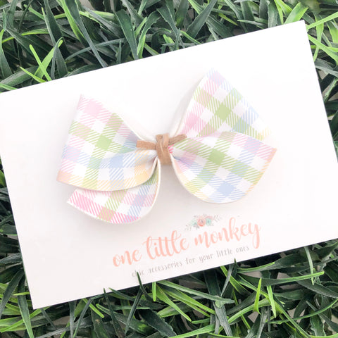 Easter Plaid JAMES Bow
