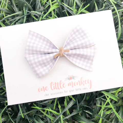 Gray Gingham KENNEDY Bow