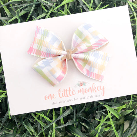 Easter Plaid KENNEDY Bow
