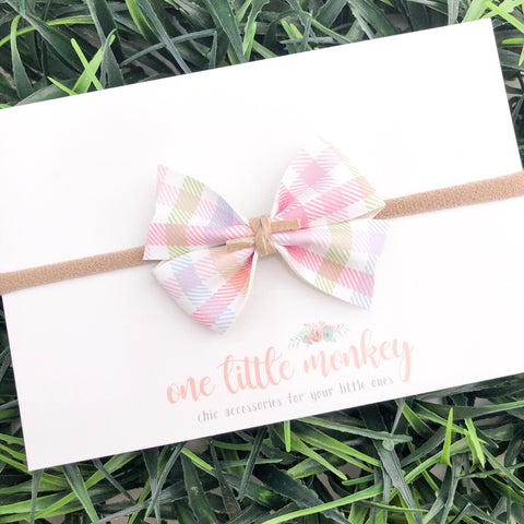 Easter Plaid RAEGAN Bow