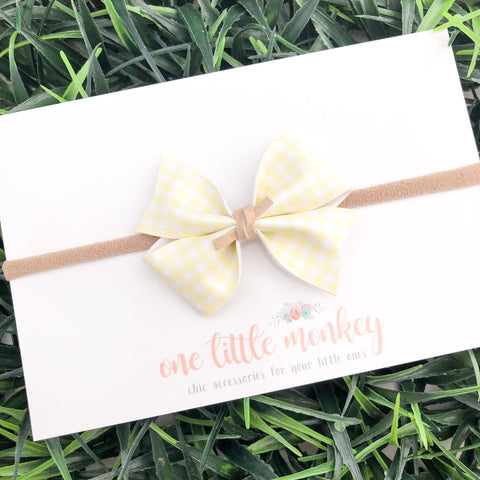 Yellow Gingham RAEGAN Bow