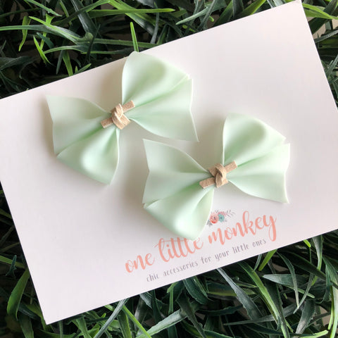Mermaid Tail Jelly RAEGAN Bows - Set of 2 Piggy Clips