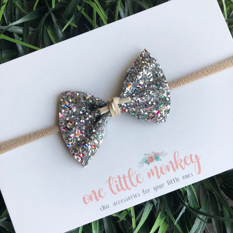Candy Stripe Glitter SUTTON Bow