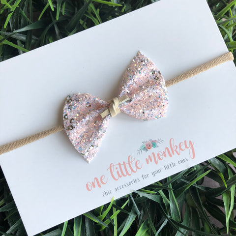 French Vanilla Glitter SUTTON Bow