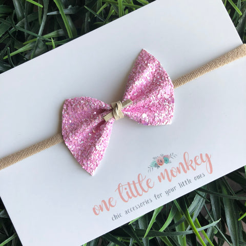 French Macaroon Glitter SUTTON Bow